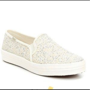 Late spade glitter keds! Great for a wedding sz6.5
